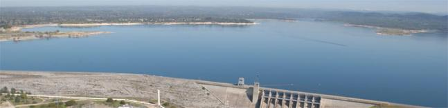 the Folsom lake and dam